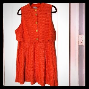 Retro Fit and Flare ASOS Dress Size 14